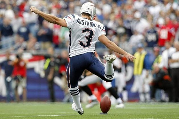 Fantasy Football: Stephen Gostkowski Leads Breakdown of Field-Goal Projections