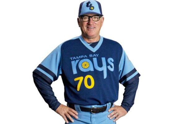 Joe Maddon Shows off Awful 1979 Tampa Bay Rays Throwback Uniforms