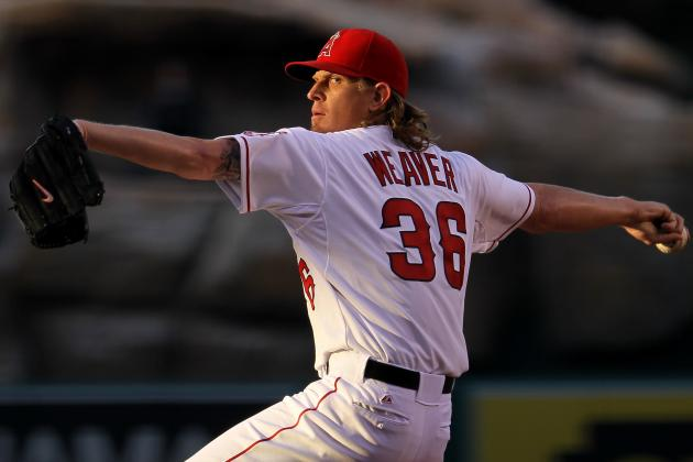 Los Angeles Angels Blank the San Francisco Giants Behind Jered Weaver