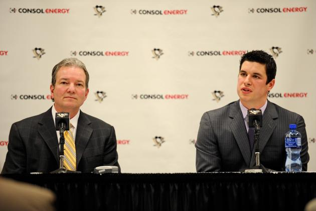 Pens GM Shero says no deadline for Crosby or Staal, expects to tradedefensemen