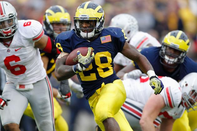 College Football 2012 Top 150 Players: No. 96 Fitzgerald Toussaint Michigan RB