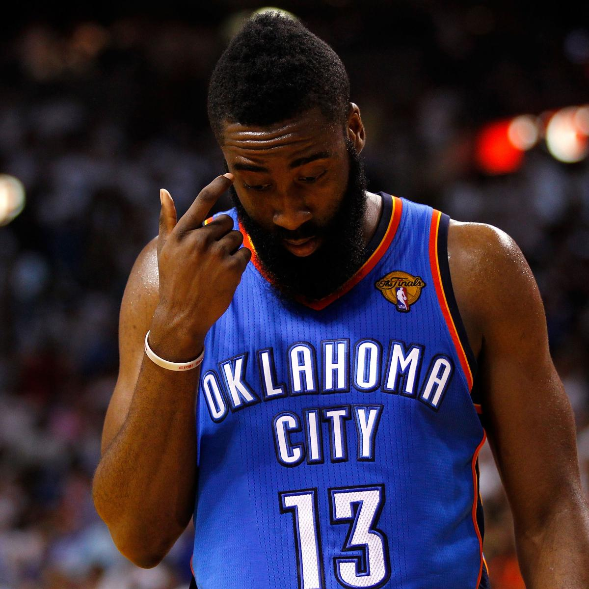 James Harden In Okc: James Harden Disappearing Act Costs Thunder NBA Finals