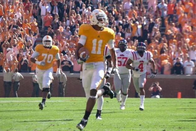 2013 NFL Draft WR Prospect Justin Hunter More Than a Track Star Playing Football
