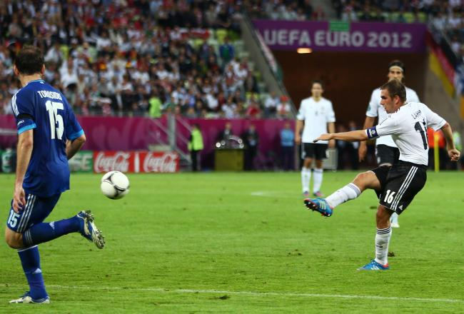 Lahm shoots Germany ahead