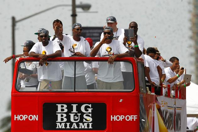 Miami Heat Parade 2012: Best Moments from the NBA Championship Celebration