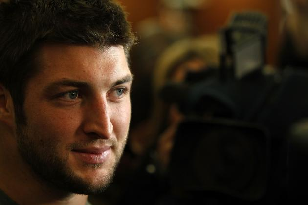 NY Jets' Tim Tebow Clowns Brady Quinn and Fighting Irish of Notre Dame