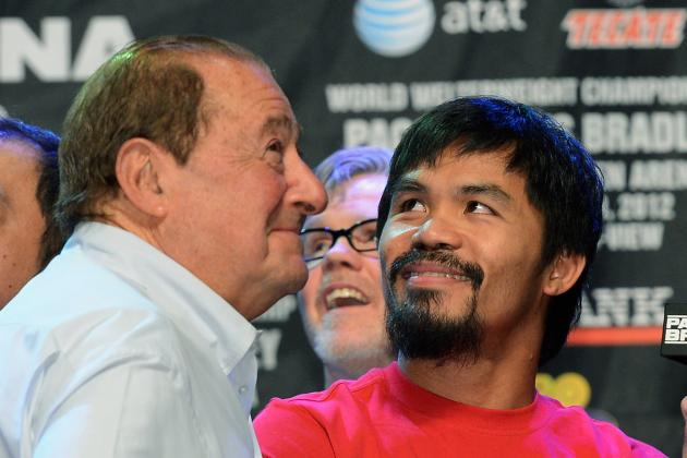 Mayweather vs. Pacquiao: Manny Pacquiao, Arum Talk Mayweather Fight over Dinner