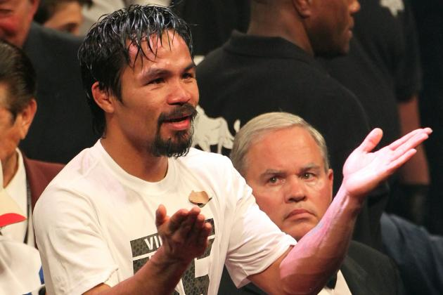 Manny Pacquiao Tells Bob Arum to Make Floyd Mayweather Fight Happen