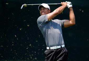 Tiger made par at his first hole on Friday