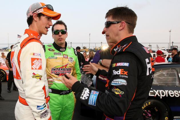 Denny Hamlin, Joey Logano Mend Fences After Sonoma Wreck