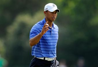 Tiger birdied No. 5 now -2 for his second round