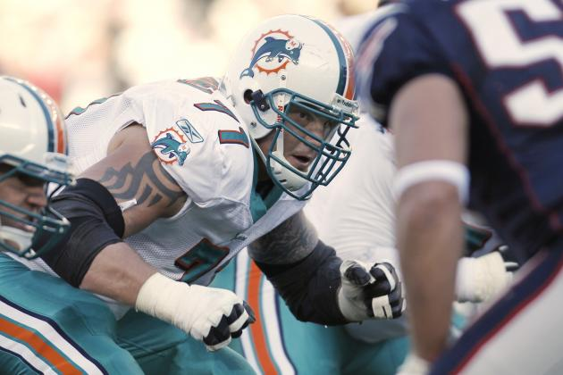 Jake Long (No. 59) Dolphins' Lone Rep as NFL Network Wraps Top 100