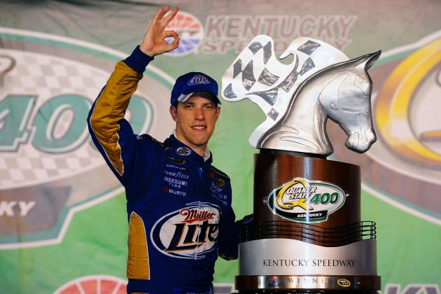 Brad Keselowski Wins Third Race of Season at the Quaker State 400