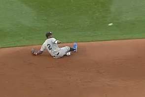 Escobar Dives, Makes a Behind-the-Back Flip