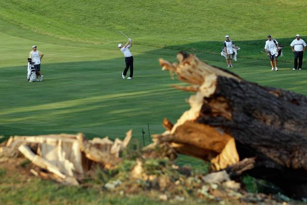 AT&T National 2012: Storms Cause Golfers to Play Without Spectators