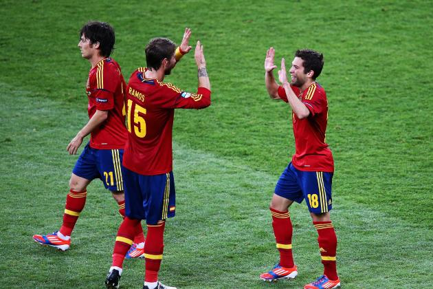 Spain vs. Italy Live: David Silva's Header Gives Spaniards Early Edge