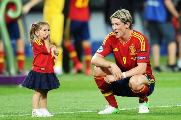 Euro 2012: Fernando Torres and His Daughter Celebrate Spain's Championship