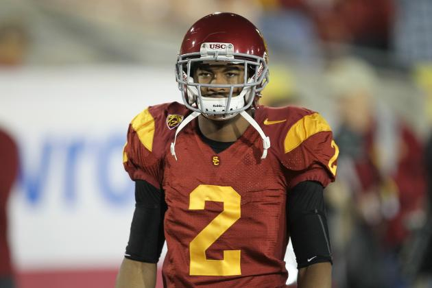 USC Football: Wearing Ankle Brace All Season Long Terrible Sign for Robert Woods