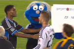 Beckham Gets into It with Mascot at MLS Game