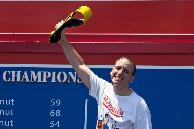 Nathan's Hot Dog Eating Contest 2012: Joey Chestnut Ruins Contest with Dominance
