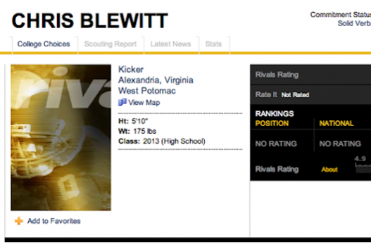 A Kicker Named Chris Blewitt and the All–Unfortunate Name Team