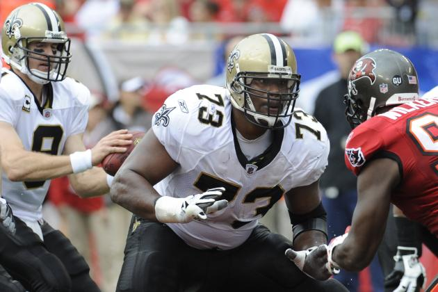 Counting Down the Top 25 Players in the NFC South: No. 18, Jahri Evans