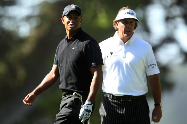 Woods, Mickelson Miss Cut at Same PGA Tour Event for 1st Time as Pros