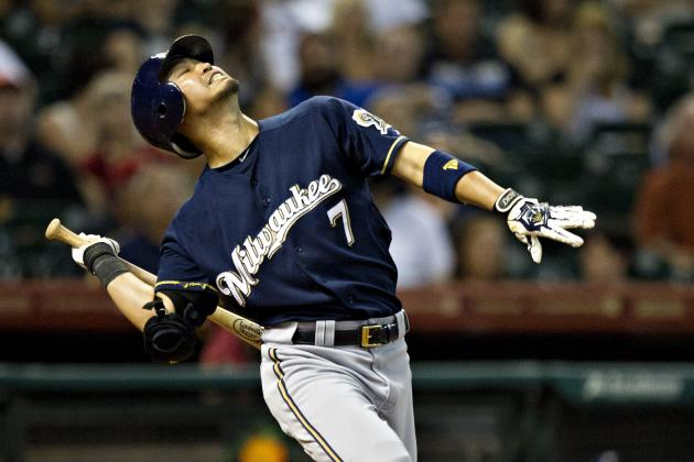 Greinke Ejected Four Pitches into Brewers' Loss