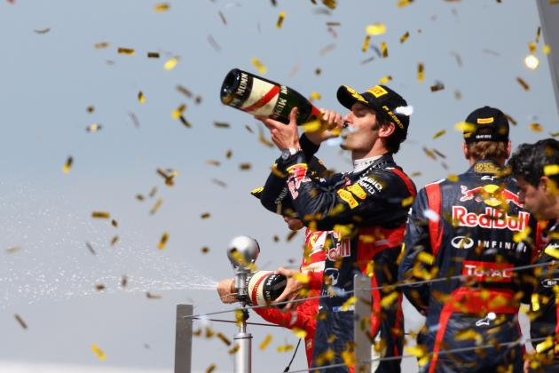 Mark Webber Wins in the Dying Stages of the 2012 British Grand Prix