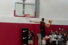 Blake Griffin Dunks at Team USA Basketball Practice