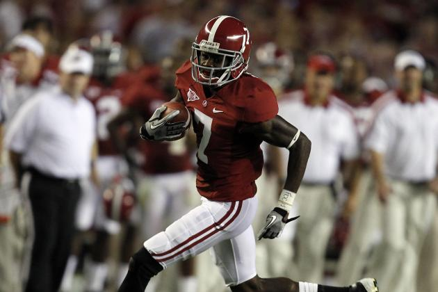 Alabama 2012:  Talent Must Outweigh Inexperience at Wide Receiver