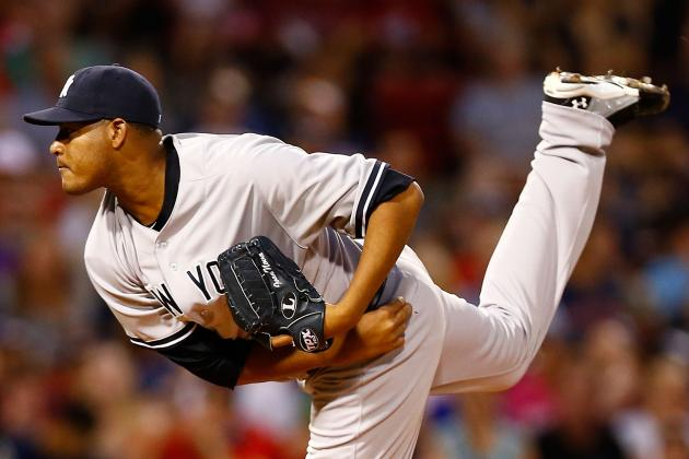 Yankees-Red Sox: Ivan Nova Ks 10, Leads Bombers to 3-1 Series Win over Boston
