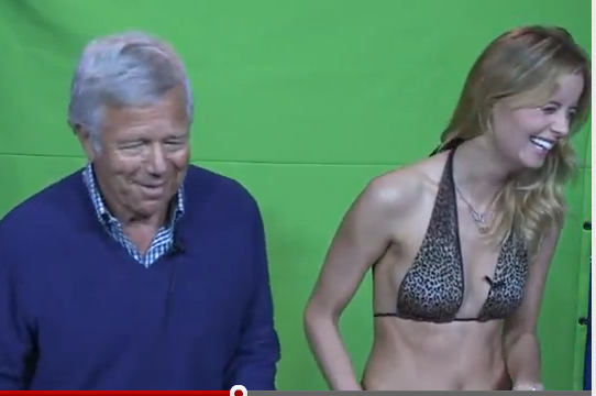 Patriots Owner Bob Kraft and Ricki Noel Shine in Awkward Audition Tape