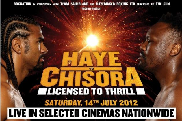 Dereck Chisora vs. David Haye: Fight Time, Date, Live Stream, TV Info and More