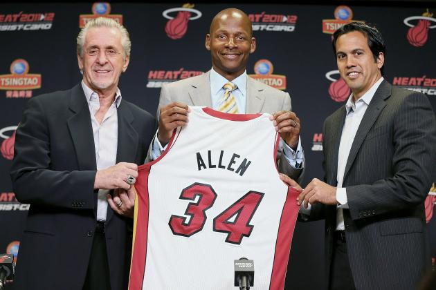 NBA Free Agency 2012: Miami Heat Announce Ray Allen and Rashard Lewis Signings