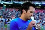 Did This Guy Cheat on the National Anthem at the All-Star Game?