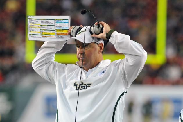 South Florida Football: Bulls Should Have Waited to Extend Skip Holtz's Contract