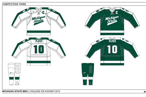 Michigan State Hockey Unveils New Uniforms for 2012-13