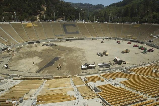 Workers Busy Getting Memorial Stadium Ready for Sept. 1 Cal Football Opener