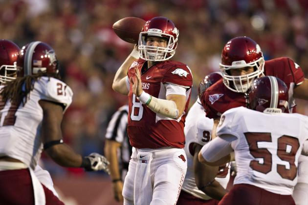 2012 Manning Award Watch List: Arkansas' Tyler Wilson Leads Group of 5 SEC QBs