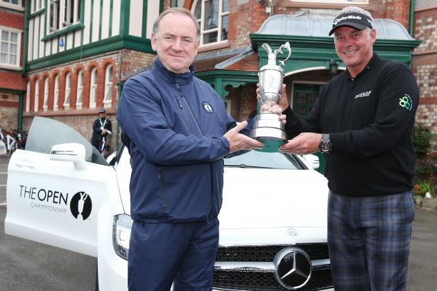 Darren Clarke Returns Claret Jug Dinged but Dry