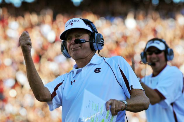 Steve Spurrier at SEC Media Days: 'It's Easier to Win the National Championship'
