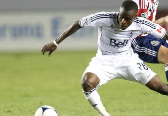 Vancouver's Gershon Koffie has made it 1-0 Whitecaps over the LA Galaxy.