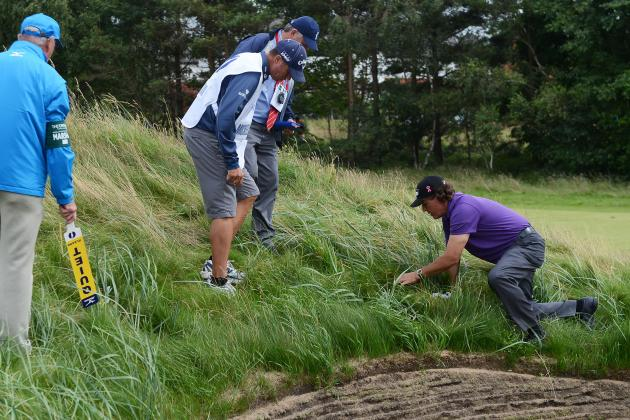 British Open 2012: Grading Phil Mickelson's Round 1 Performance