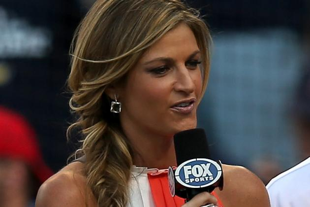 Erin Andrews Tweets Bizarre Unicorn Pics from Fox College Football Promo