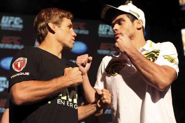 UFC 149 Weigh-in Results for Urijah Faber vs. Renan Barao Fight Card