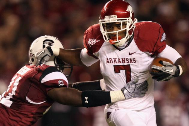 Arkansas Football: Running Back Knile Davis Is Healthy and Squatting 600 Pounds