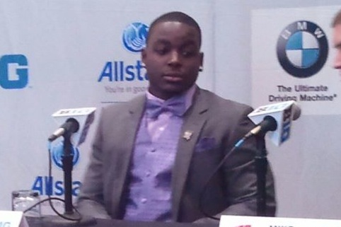 Wisconsin Football: Montee Ball's Purple Suit, Bowtie Hit of Big Ten Media Days