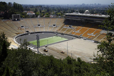 Cal Football: New Turf Being Laid at Memorial Stadium Field