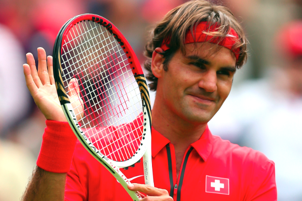 Roger Federer Defeats Alejandro Falla in 2012 Olympics First Round